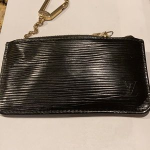 LV Epi key/coin pouch in black